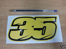 2015 Cal Crutchlow # 35 número de competición Con Adhesivo - 150 Mm X 75 Mm-MotoGP / Bsb calcomanías