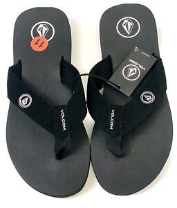 New VOLCOM Men's  Vocation  Sandals Flip Flops In Blk/ Blu/ Camo And Diff Sizes