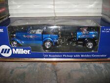 1 18 ERTL '29 FORD ROADSTER PICKUP WITH V8 WELDER & GENERATOR MILLER WELDS RIDES
