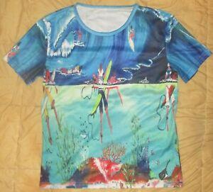 Vintage Ken Done Australia Pop Art Design T-Shirt Size XXL Aussie Surfer Scene