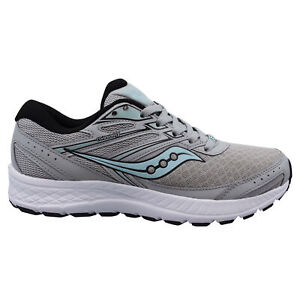 Saucony Cohesion 13 Grey Low Lace Up Womens Trainers Running Shoes S10559 2