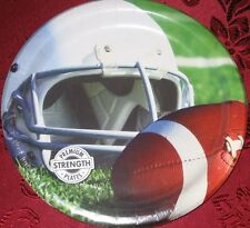"""FOOTBALL PARTY 9"""" PAPER PLATES Luncheon BIRTHDAY Supplies HELMET NFL SUPER BOWL"""