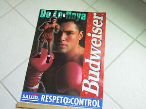 BUDWEISER BEER Oscar de la Hoya 1998 BOXING poster 19'' x 27''
