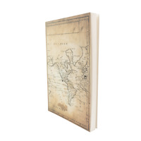World Map Layflat Sketchbook - 5.5 x 8.25 Inches Note Book, 64 Sheets, Thick 100