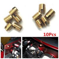 10Pc Brass Fairing Repair Bolt For Harley Electra Glide,Electra Glide Ultra,FLHT