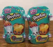 Shopkins Season 3  Blind Baskets Two Baskets (4 Shopkins Total) Free Shipping
