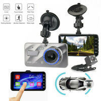"4""HD 1080P Dual Lens HD Screen Car DVR Dash Cam Recorder + Rear View Camera Kit"