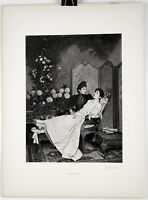 "AUGUSTE TOULMOUCHE Print Photogravure French Engraving 1800s 15.5"" x 11.5"" #2"
