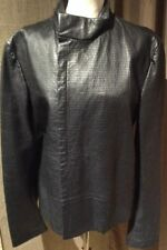 "Christian Dior Black Leather Jacket Men's Stunning Size 40"" Chest Euro 54"
