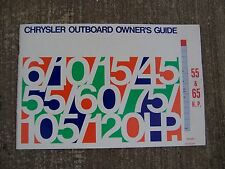 1976 Chrysler Outboard 55 65 HP Owner Manual MORE OUTBOARD ITEMS IN OUR STORE  S