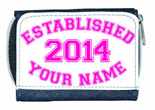 ESTABLISHED IN (ANY YEAR) PERSONALISED LADIES / GIRLS DENIM PURSE- NAMED GIFT
