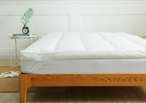 Luxury Duck Feather & Down Mattress Topper 7cm Extra Deep Available In All Sizes