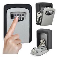 4 Digit Wall Mounted Key Safe Outdoor Combination Lock - Black / Grey