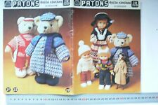 Knitted & Crochet CUDDLY Doll & Teddy Clothes - Patons C38 - 1 Book Left DollCB