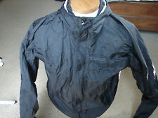 Mens Marmot Lightweight Packable Rain Jacket Hooded Full Zip Up Size Small Black
