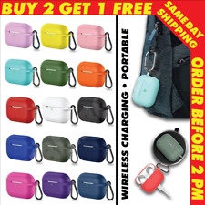 #1 FOR APPLE AIRPODS PRO SILICONE CASE COVER PROTECTIVE SKIN + KEYCHAIN