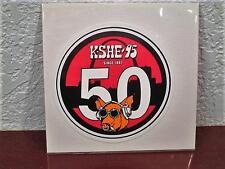 "K-SHE 95 REAL ROCK RADIO 50th ANNIVERSARY SWEET MEAT PIG BUMPER STICKER ""SCARCE"""
