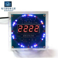 (Need Weld) Rotating LED electronic clock kit DS1302 Digital tube electronic DIY