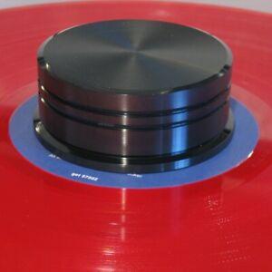 Record Puck Schallplatten Dämpfer Beschwerer DELTA DEVICE 180g Vinyl schwarzmatt