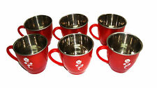 Attractive Stainless Steel Mini Tea Cups - Set of 6