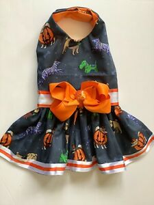 Handmade Halloween Doggie Dress Dogs In Costume Theme Size M