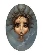 Angelina Wrona Surfacing 11x14 print poster fantasy surreal bubbles under water