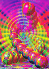 POSTER : PSYCHEDELIC : COSMIC DELUSION - CLASSIC FRACTALS -  #208 RAP135 A