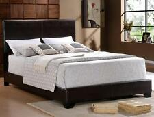 "QUEEN SIZE BLACK BI CAST LEATHER  FOOTBOARD AND HEADBOARD ""QUEEN BED ONLY"""