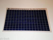 Microfiche Catalogo Ricambi Suzuki Dr 650 Stand 10/1993