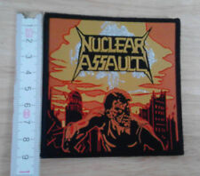 NUCLEAR ASSAULT woven Patch Game Over Anthrax Overkill S.O.D. Suicidal Tendencie