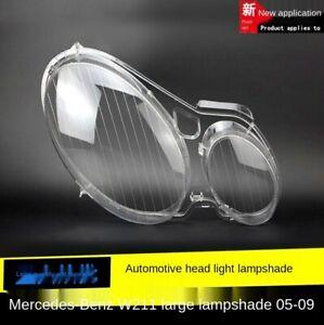 Pair Headlight Headlamp Lens Cover For Mercedes Benz E-Class W211 2002-2008