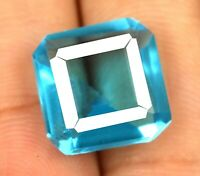 Octagon 7-9 Ct Swiss Blue Topaz Gemstone 100% Natural Weekend Offer Certified