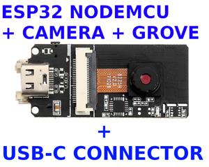 ESP32 NodeMCU Normal & Fisheye Camera + USB-C Connector Rapid Development Board