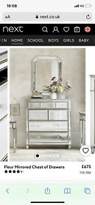 Next Fleur Mirrored Chest Of Drawers