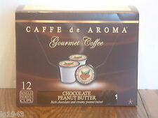 Caffe de Aroma Choc. Peanut Butter flavored 12 Single Serve K-Cup OK for 2.0