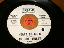 GEORGE TINLEY - HEART OF GOLD - CLOSE YOUR EYES   / LISTEN - SOUL R&B POPCORN