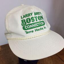 Vtg 80s Larrys Bird Boston Celtics Basketball Snapback Hat Cap Terre Haute Rope