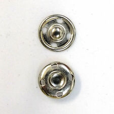 New Sew-On Snaps Fasteners Size:12mm 144 sets package, Color: Silver