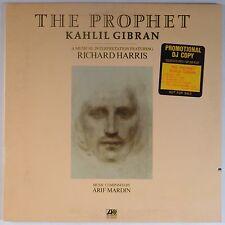 KAHLIL GIBRAN: The Prophet w/ RICHARD HARRIS USA ORIG Promo VINYL LP VG+