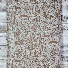 York Wallcoverings Contemporary Animal Woodland Brown Blue Grey Wallpaper Diy