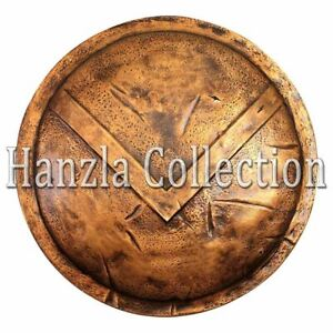 "Dark Antique Brass Finish 24"" Medieval Battle Armor King Leonidas Spartan Shield"
