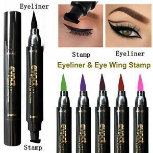 7 Colours Double Head Liquid Eyeliner Pen Winged Eye Liner Pencil Stamp Makeup
