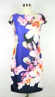 VINCE CAMUTO Women's 4 - Purple & pink floral stretch sheath dress knee length