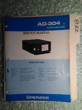 Pioneer Ad-304 service manual original repair book car stereo power amp 14 pages