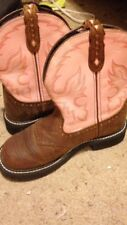 pink and brown justin boots