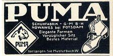 PUMA Schuhfabrik Nowawes bei Potsdam Historische Annonce 1913
