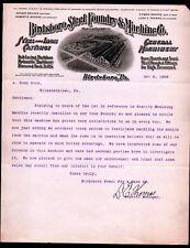 1908 Birdsboro Steel Foundary & Machine Co - George Brooke - Pa Letter Head Rare