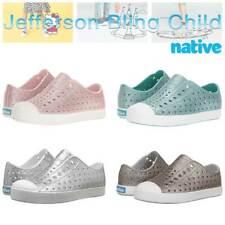 Native kids Jefferson Girls Bling Sneakers Slip-on Shoes Children's 4Color Bling
