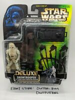 Star Wars Deluxe Snowtrooper w/ E-Web Heavy Repeating Blaster Kenner 1996 Sealed