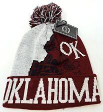 OKLAHOMA City Football Helmet Skull Cap Cuff Pom Beanie Winter Hat Cuffed NWT